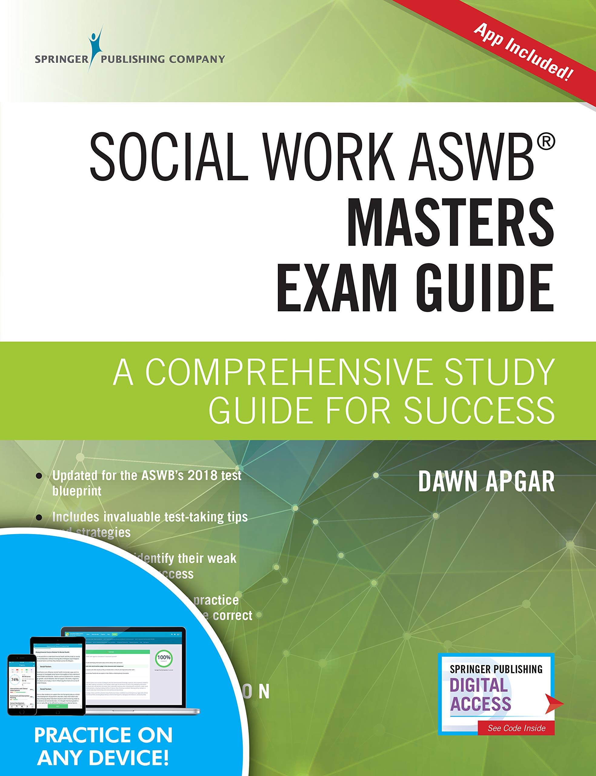 Social Work ASWB Masters Exam Guide, Second Edition: A Comprehensive Study Guide for Success - Book and Free App - Updated ASWB Study Guide Book with a Full ASWB Practice Test by Springer Publishing Company