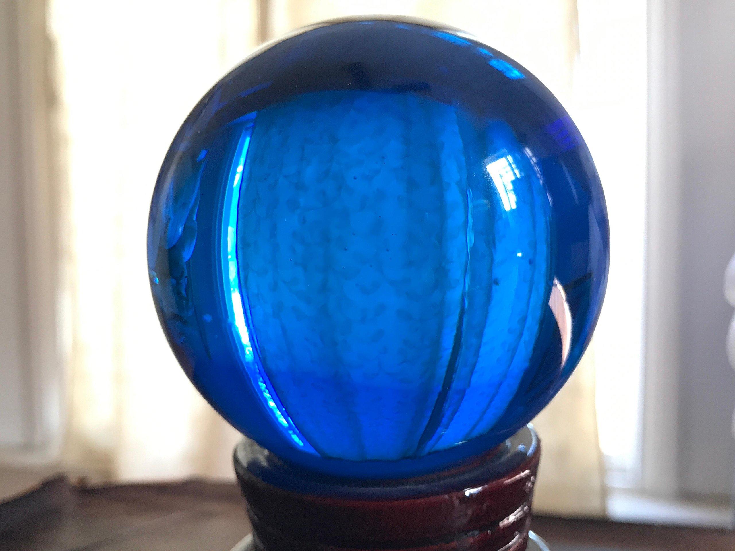 Fengshui Meditation Crystal Ball Healing Crystals 70MM by Sunrise Crystal (Dark Blue)