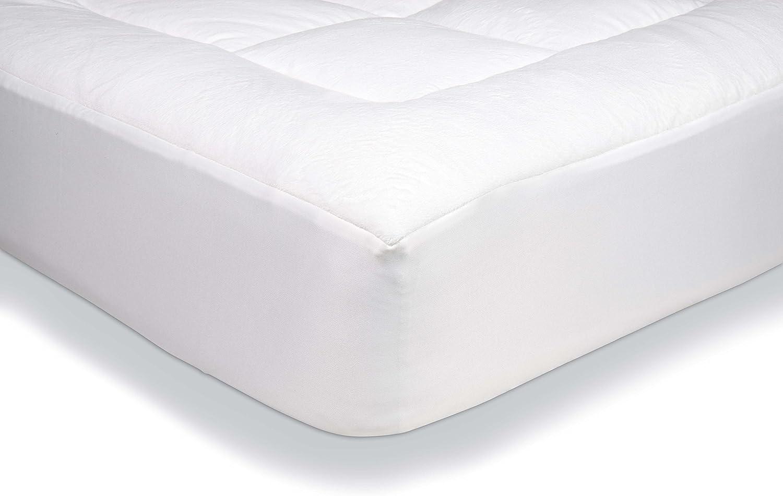 AmazonBasics - Protector de colchón acolchado con tejido micropolar ultrasuave (150 x 200 cm)