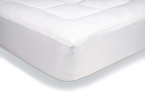 AmazonBasics - Protector de colchón acolchado con tejido micropolar ultrasuave (135 x 190 cm)