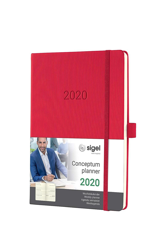 SIGEL C2064 Agenda semanal 2020 Conceptum, tapa dura 14,8 x ...