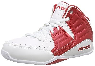 7b4e17c8d145ff AND1 Rocket 4, Chaussures de Basketball garçon, Blanc - Weiß (bright white/