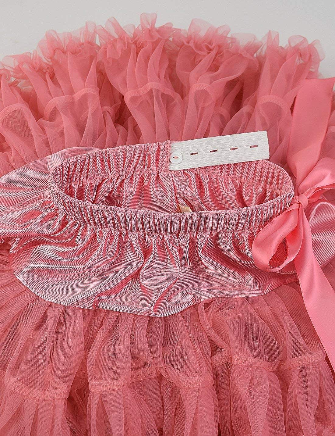 ZIYOYOR Kids Girls Princess Tutu Pettiskirt Fluffy Tulle Pleated Skirt Dance Ballet Skirt