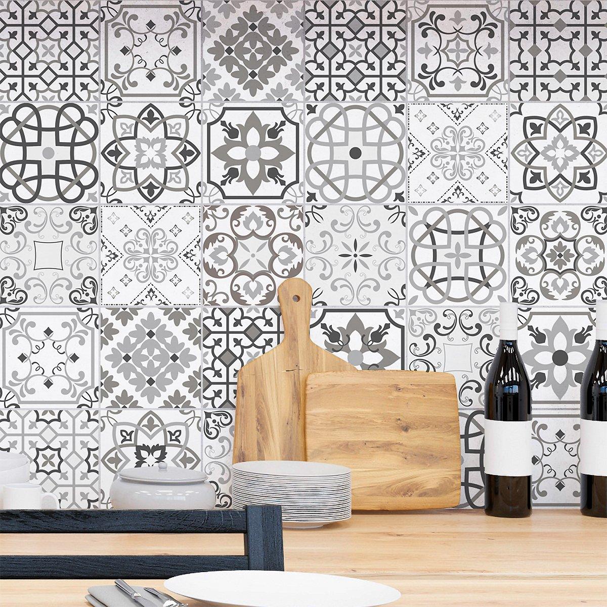 ambiance-live col-tiles-ros-a916_ 15x 15cm adesivi adesivi piastrelle, Multicolore, 15x 15cm, set di 30pezzi col-tiles-ROS-A916_15x15cm