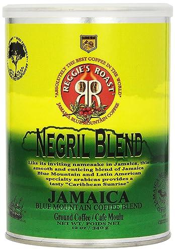 Jamaica Blue Mountain Coffee, Negril Blend Ground Arabica Coffee Tin 340g
