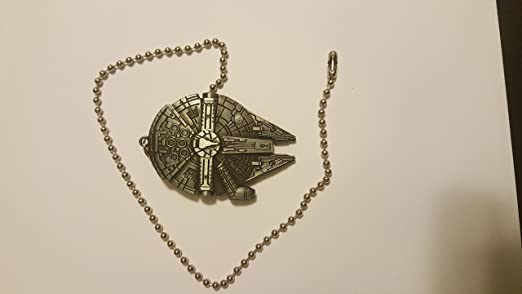 Star Wars Millennium Falcon Ceiling Fan Light Kit Beaded Pull Chain Antique  Silver     Amazon.com