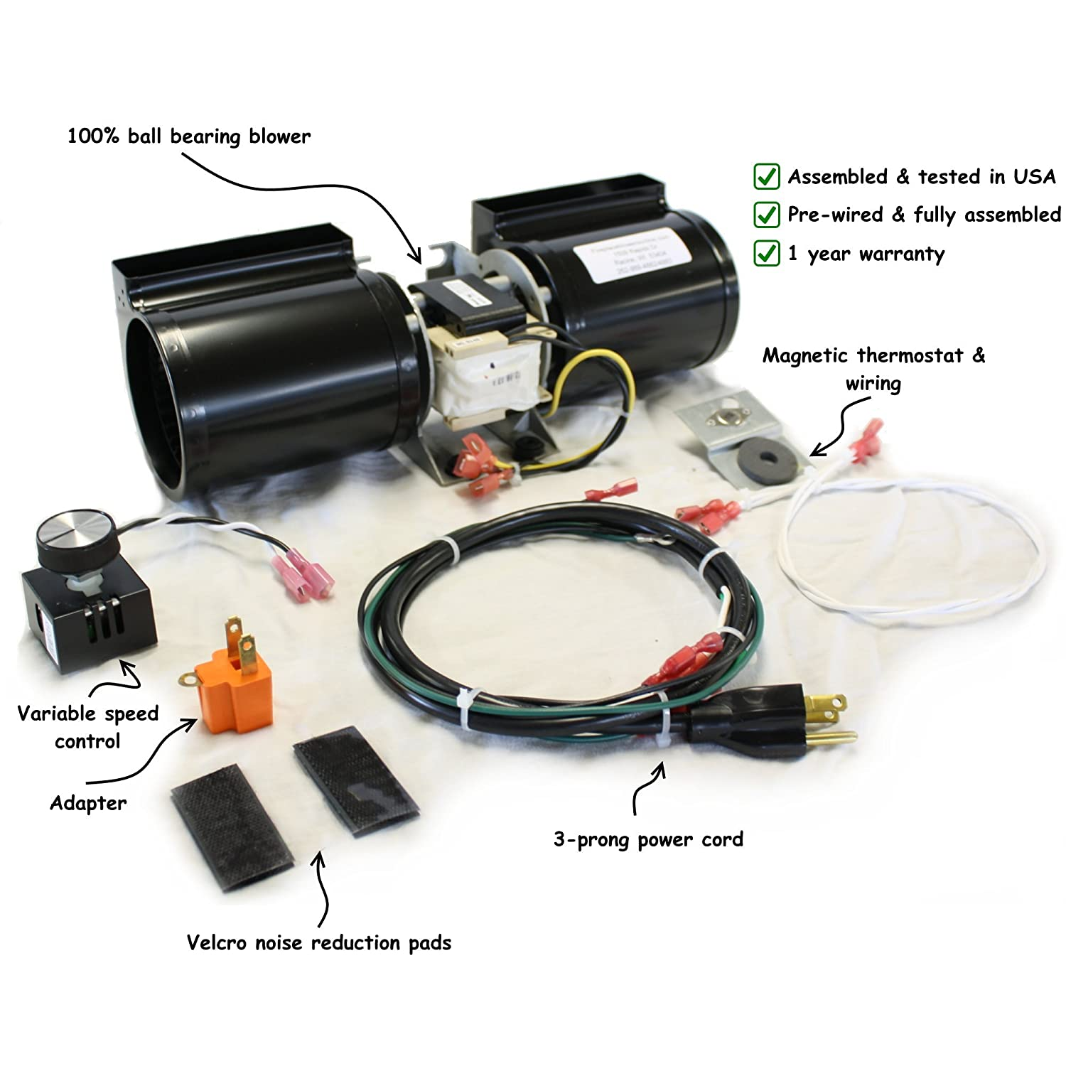 Amazon.com: GFK-160 Fireplace Blower Kit for Heat N Glo, Hearth and Home, Quadra  Fire: Home & Kitchen
