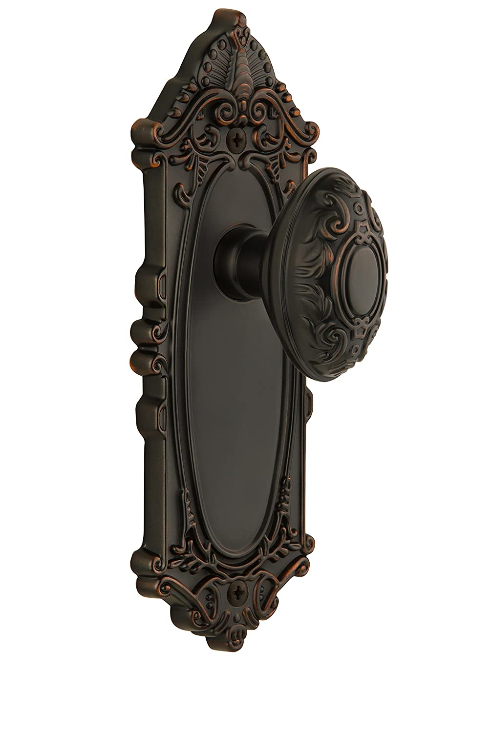 Grandeur GS40-GVCGVC-TB Grande Victorian Longplate with Grande Victorian Knob, Privacy, Timeless Bronze Finish by Grandeur B0017J88CK