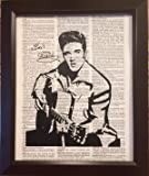 Elvis Presley Dictionary Book Page Artwork Print Picture Poster Home Office Bedroom Wall Decor