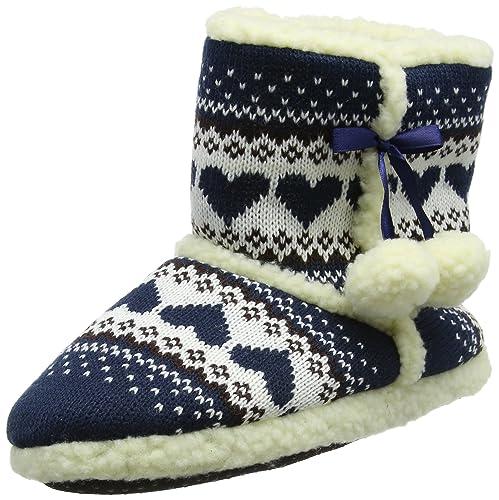 SlumberzzZ - Zapatillas de Estar por casa para Mujer Azul Azul: Amazon.es: Zapatos y complementos