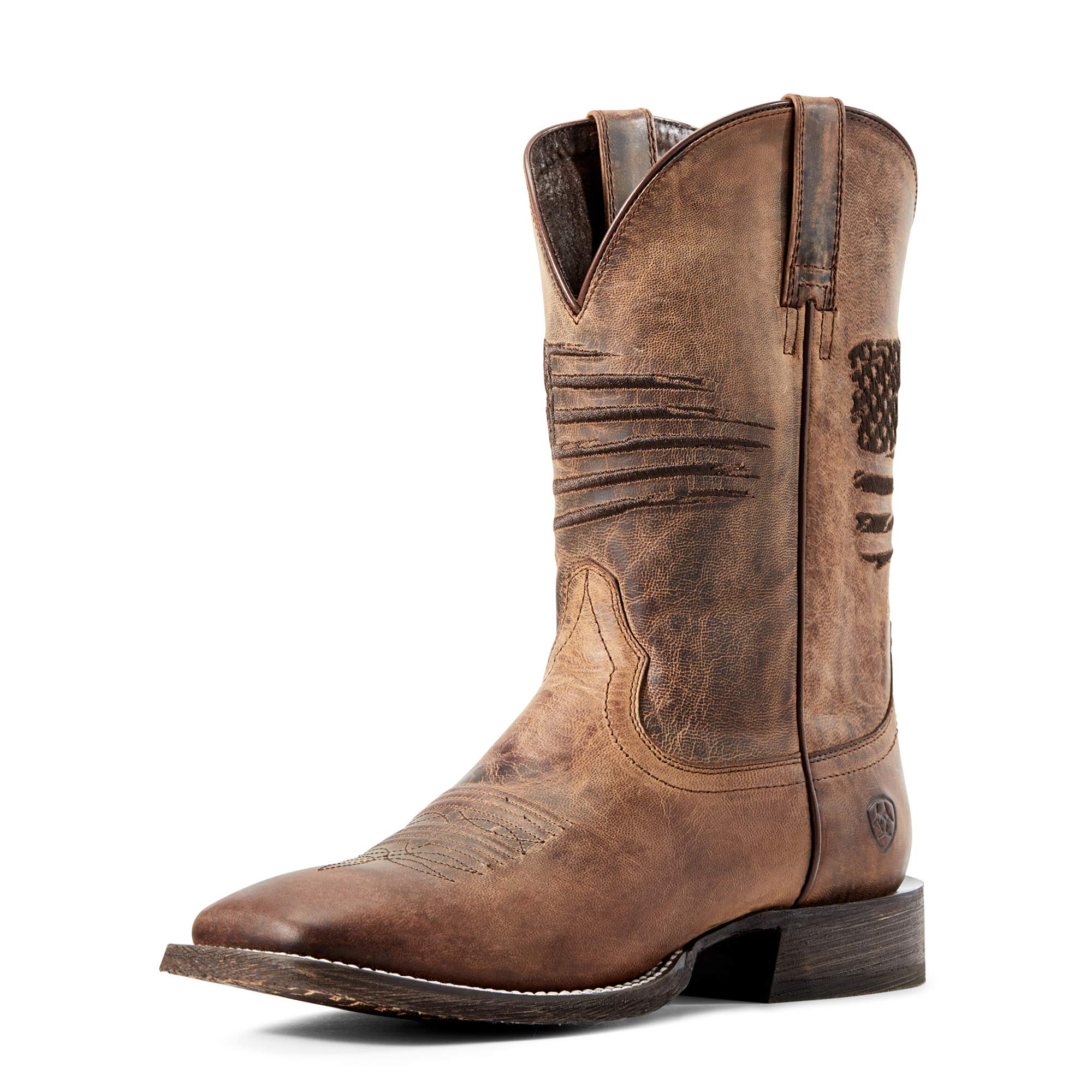 ARIAT Men's Circuit Patriot Western Boot Weathered Tan Size 10 Ee/Wide Us by ARIAT