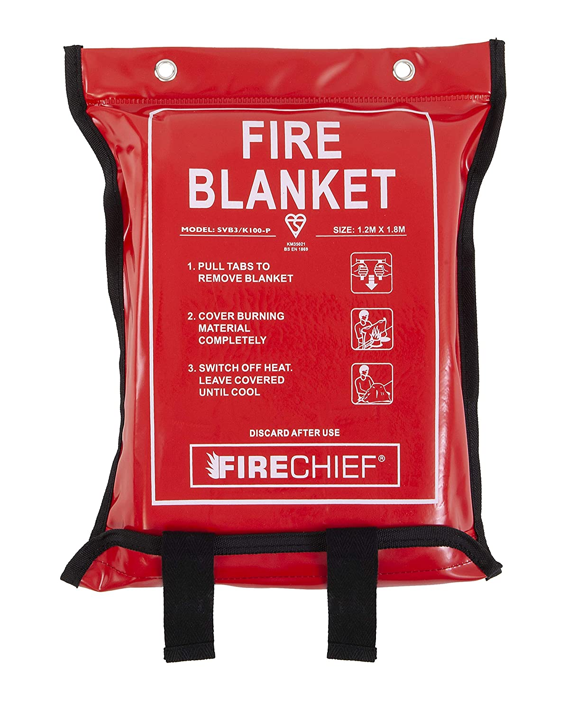 1.2 m x 1.8 m Soft Case Red Firechief SVB3//K100-P Fire Blanket