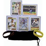 Fernando Tatis Jr. Baseball Cards (5) ASSORTED San Diego Padres Trading Card and Wristbands Gift Bundle