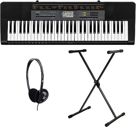 Casio CTK-1100 2500 Juego de teclado (61 teclas, 48 de ...