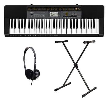Casio CTK-1100 2500 Juego de teclado (61 teclas, 48 de compartimento POLYPHON