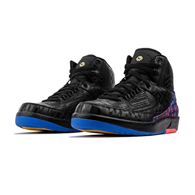best sneakers 3ada8 e07ac Amazon.com   Nike Air Jordan 2 II Black History Month BHM 2019 BQ7618-007  US Size 9   Basketball