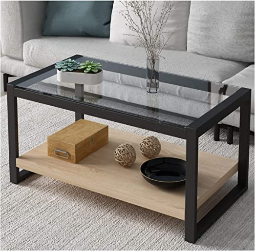 Cherry Tree Furniture Ctf Olympia Living Room Coffee Table Glass