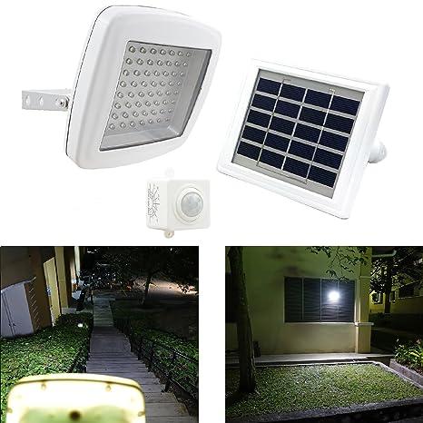 Foco de seguridad solar GUARDIAN 480X con sensor de movimiento independiente PIR y batería de litio