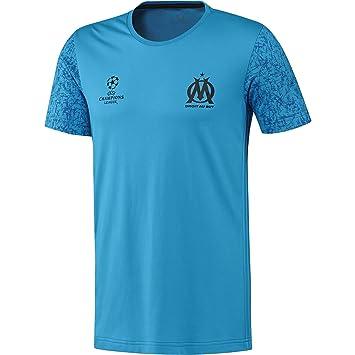Adidas Olympique de Marsella EU tee Camiseta, Hombre, Azul (Omazul/Negro), XS: Amazon.es: Deportes y aire libre