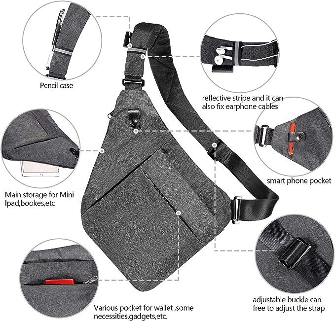 Rename Unisex CORDURA Body Shoulder Chest Cross Pack Travel Sport Slant Vest Bag