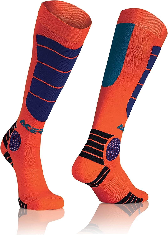 Small//Medium Acerbis MX Impact Socks Orange//Blue