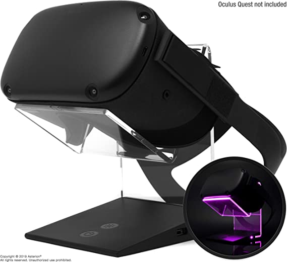 Illuminated Charging VR Stand – Universally Compatible with Oculus Quest