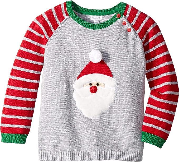 e2871396c230 Mud Pie Baby Boy's Santa Long Sleeve Christmas Sweater (Infant/Toddler) Red  LG