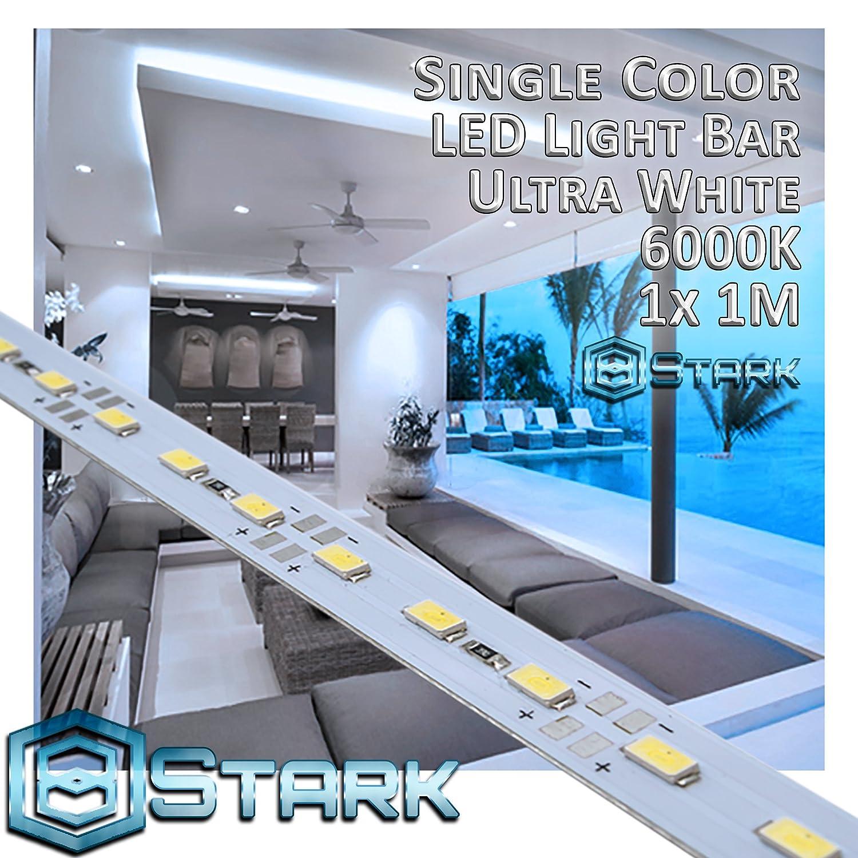 アルミニウム LED単色ストリップ インテリアデザイン照明 1メートル 1 Set (1M/3.3FT) ホワイト LED-RES-1M5630-6000-1X B071G4P6BW 12000 1 Set (1M/3.3FT)|Ultra White - 6000K Ultra White  6000K 1 Set (1M/3.3FT)