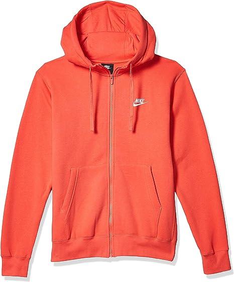 nike fleece orange