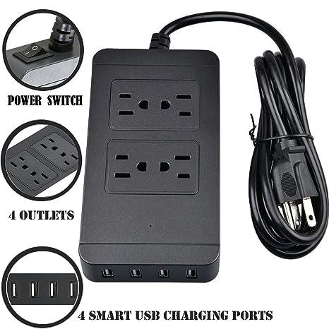 Review Jinwen 4-Outlet Power Strip