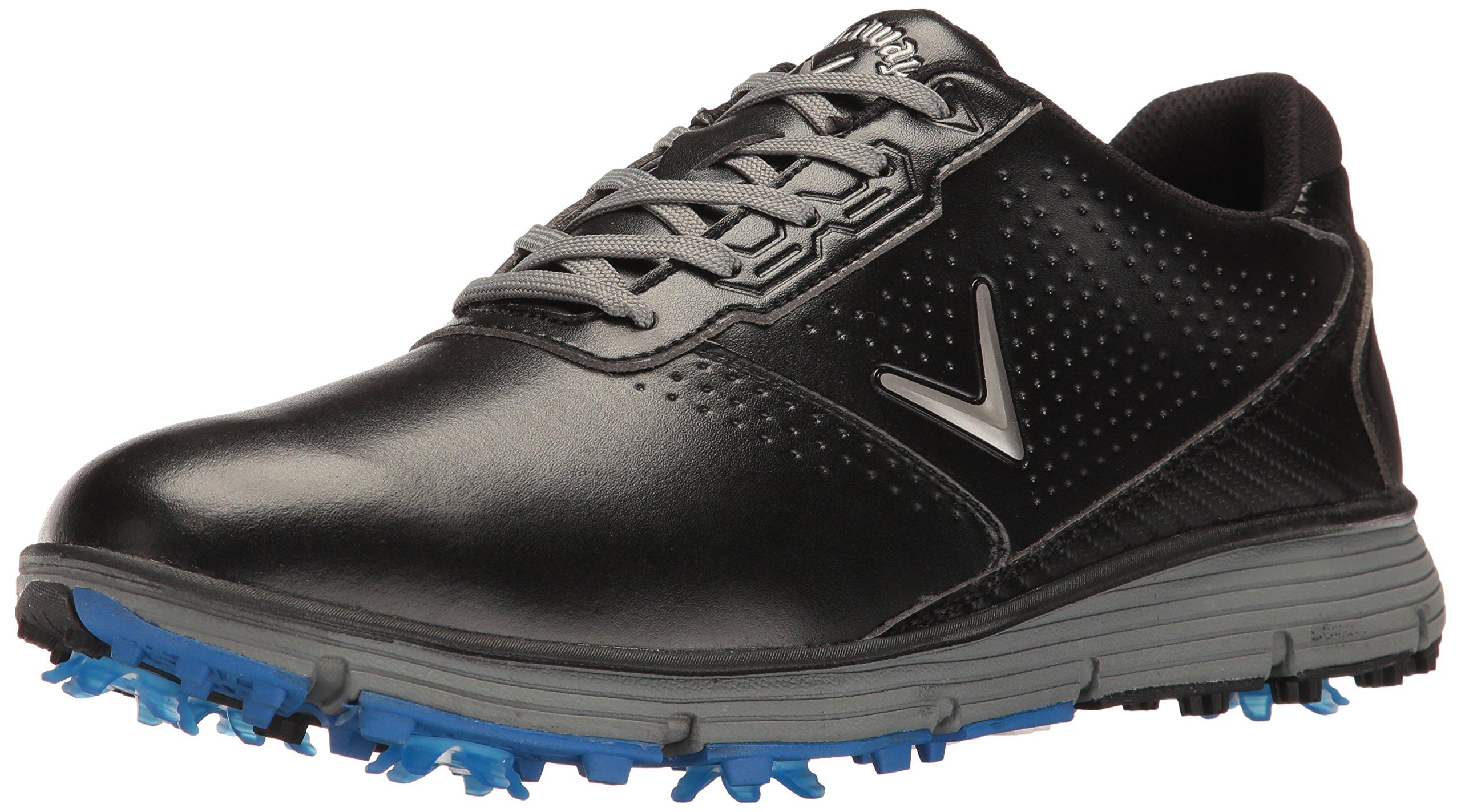 Callaway Men's Balboa TRX Golf Shoe, Black/Grey, 9 D US