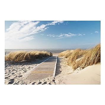 Leinwandbild Kunst-Druck 125x50 Bilder Landschaften Strand Ostsee