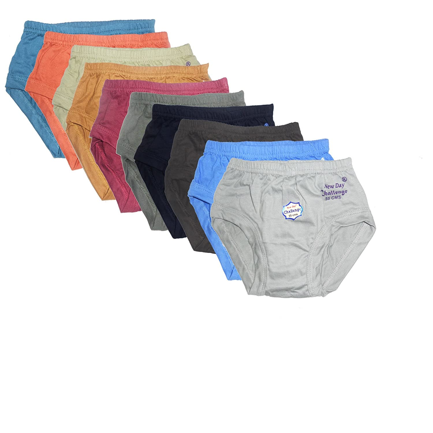 New Day Baby Boys' Cotton Brief Pack Of 10 Rohit Garments