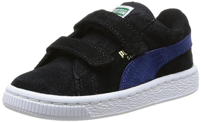 Puma Suede 2 Straps Kids - Zapatos primeros pasos de otras pieles para niño negro Noir (Black/Limoges/Team Gold) 20 amYzwf2