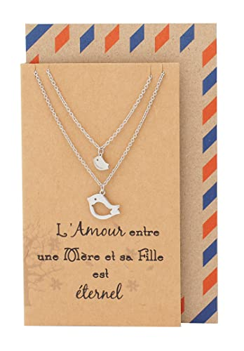 Buy Quan Jewelry Mother Daughter Necklace, Set of 2