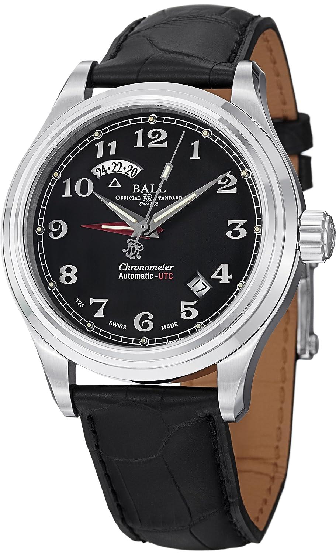 ボールメンズgm1020d-lcj-bkトレインCleveland Analog Display Swiss Automatic Black Watch B00KVNV1H2