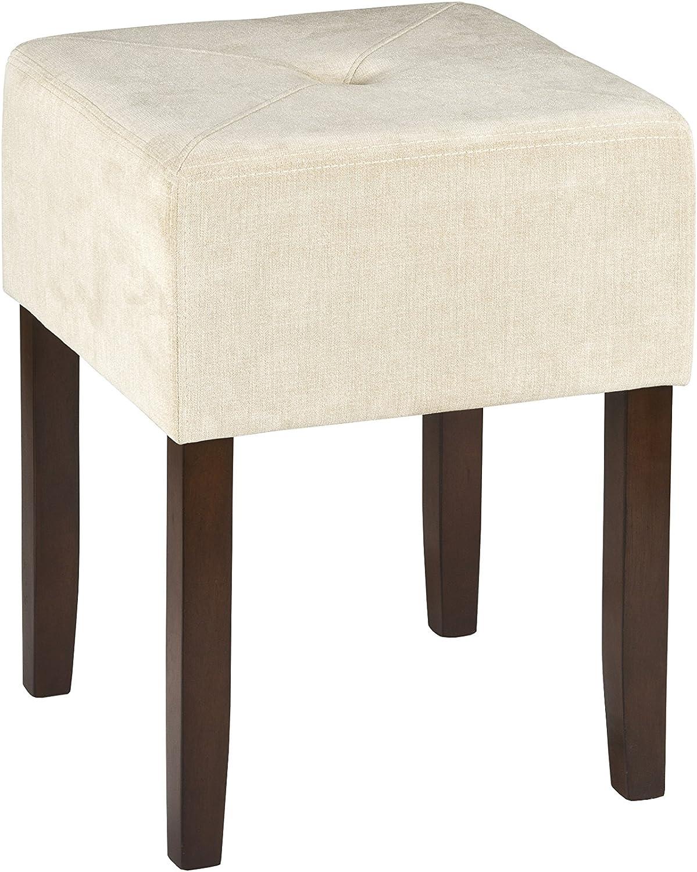 Hillsdale Furniture 55240 Bellamy Backless Vanity Stool, Beige