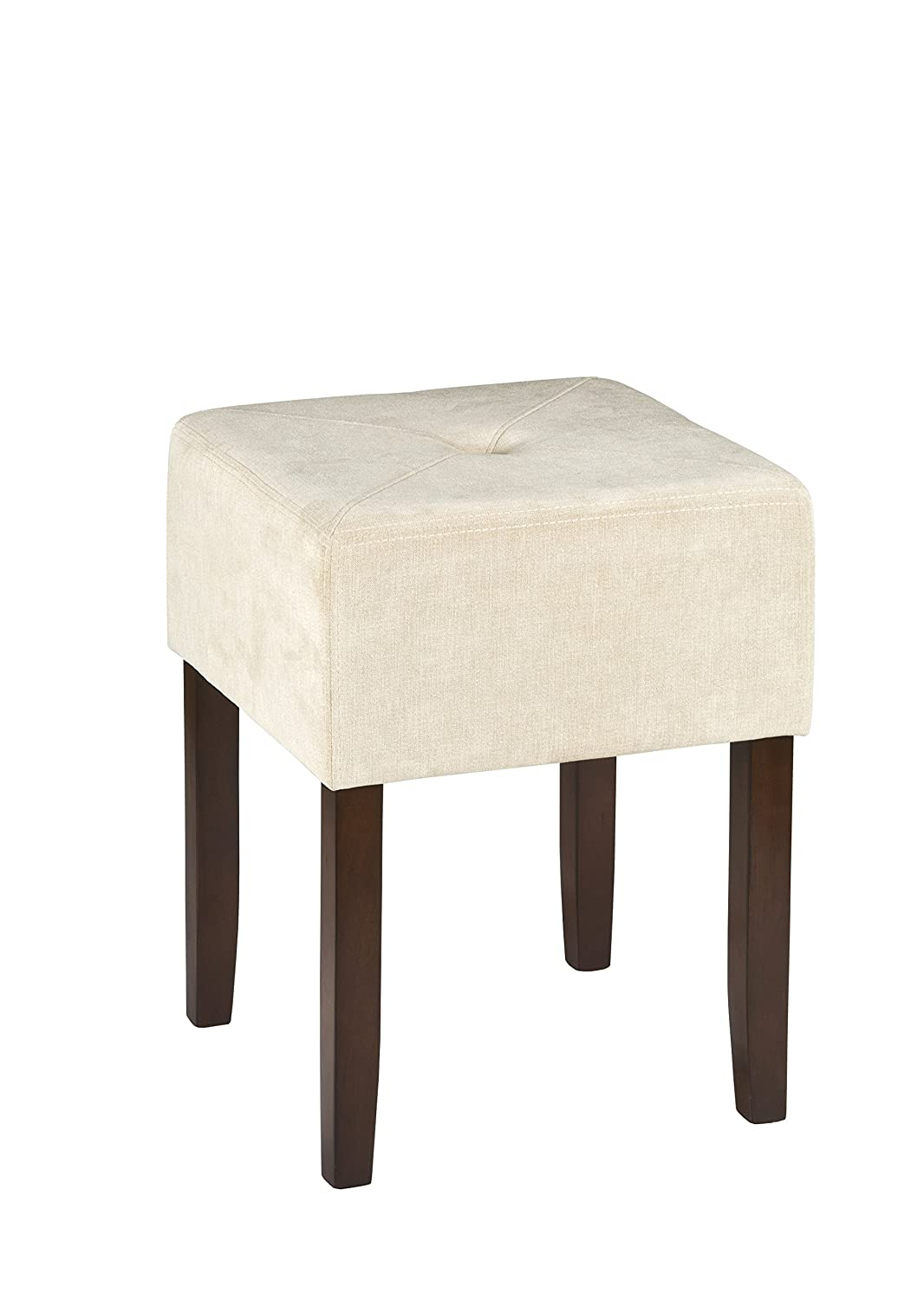 Hillsdale Bellamy Backless Vanity Stool, Beige Hillsdale Furniture 55240