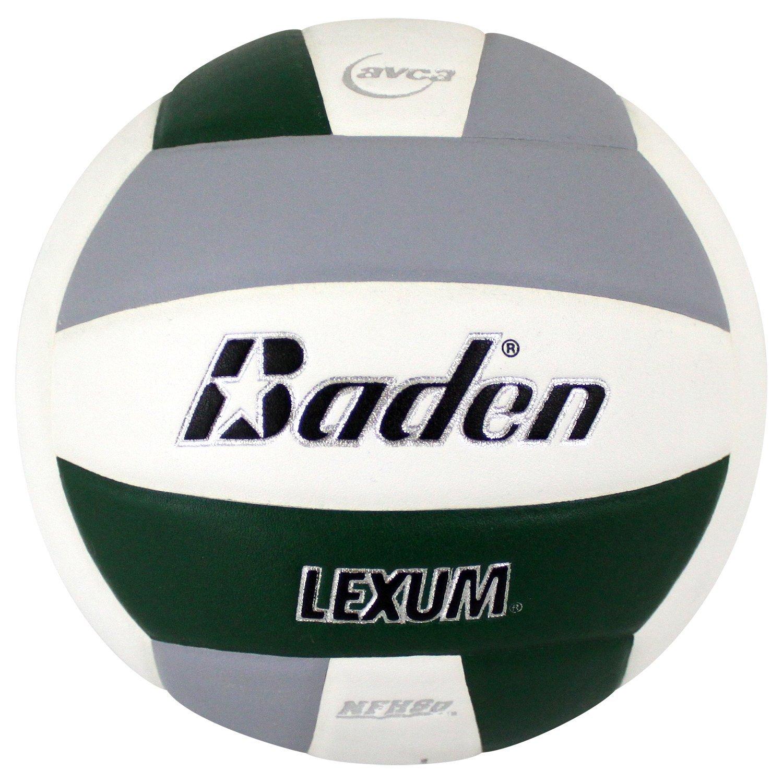 Baden Lexum 試合用合成バレーボール Forest 緑/Gray/白い
