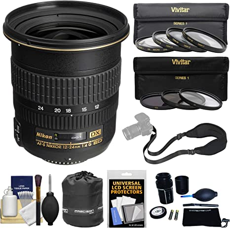 Nikon 12 – 24 mm f/4 G ED-IF DX AF-S Nikkor con 3 UV/CPL/ND8 Kit ...