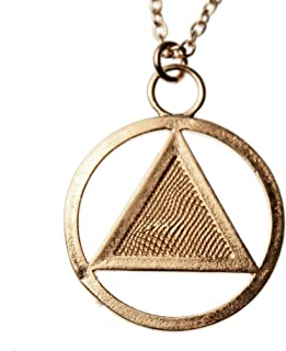 "product image for AA Symbol Peace Bronze Pendant Necklace on 18"" Rolo Chain"