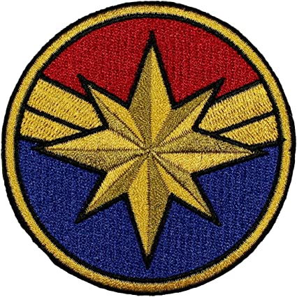 Amazon Com Captain Marvel Costume Patch Superhero Woman Embroidered Iron On Applique Arts Crafts Sewing List rulesvote up your favorite marvel costume adaptation! captain marvel costume patch superhero woman embroidered iron on applique