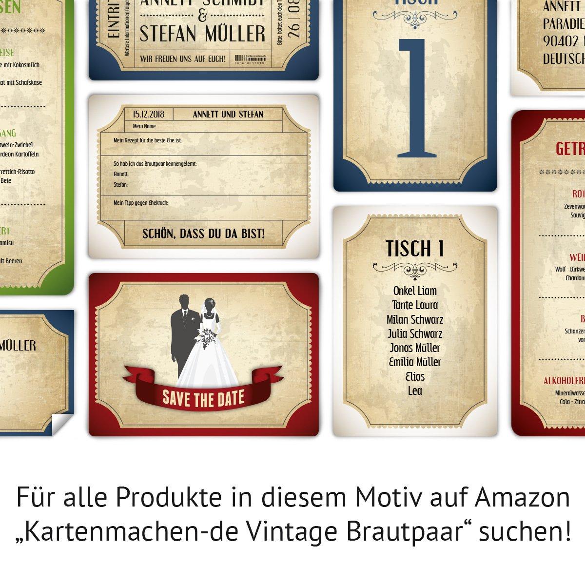 Einladungskarten zur hochzeit 100 stück als eintrittskarte im vintage ticket look hochzeitskarten in blau amazon de bürobedarf schreibwaren