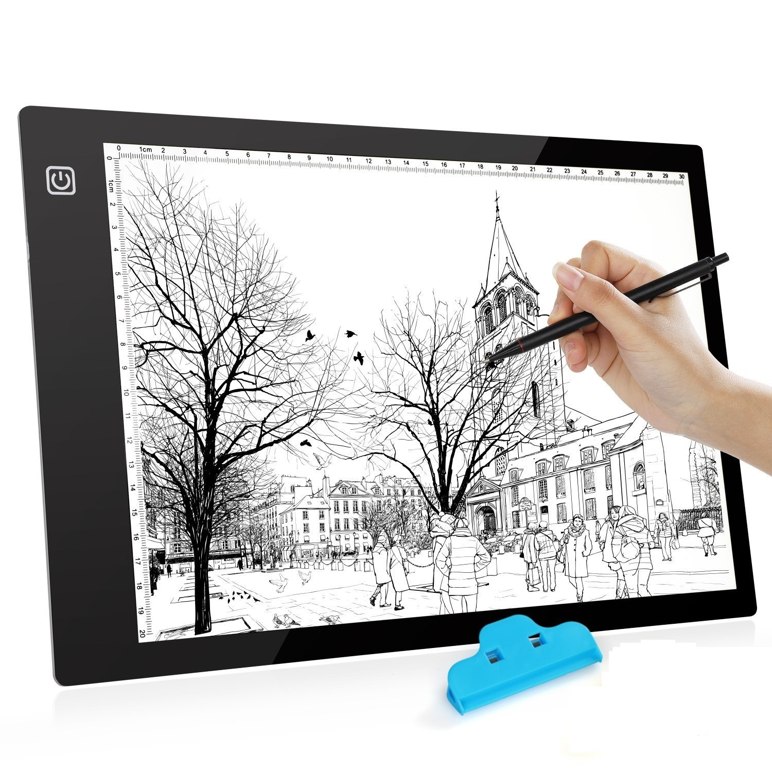 A4 Tracing Light Box Drawing Box,Usb Drawing Board,Led Artcraft Tracing Light Pad,With Brightness Adjustable,For Artists Drawing, Sketching, Animation (A4 New Version) by Amazon