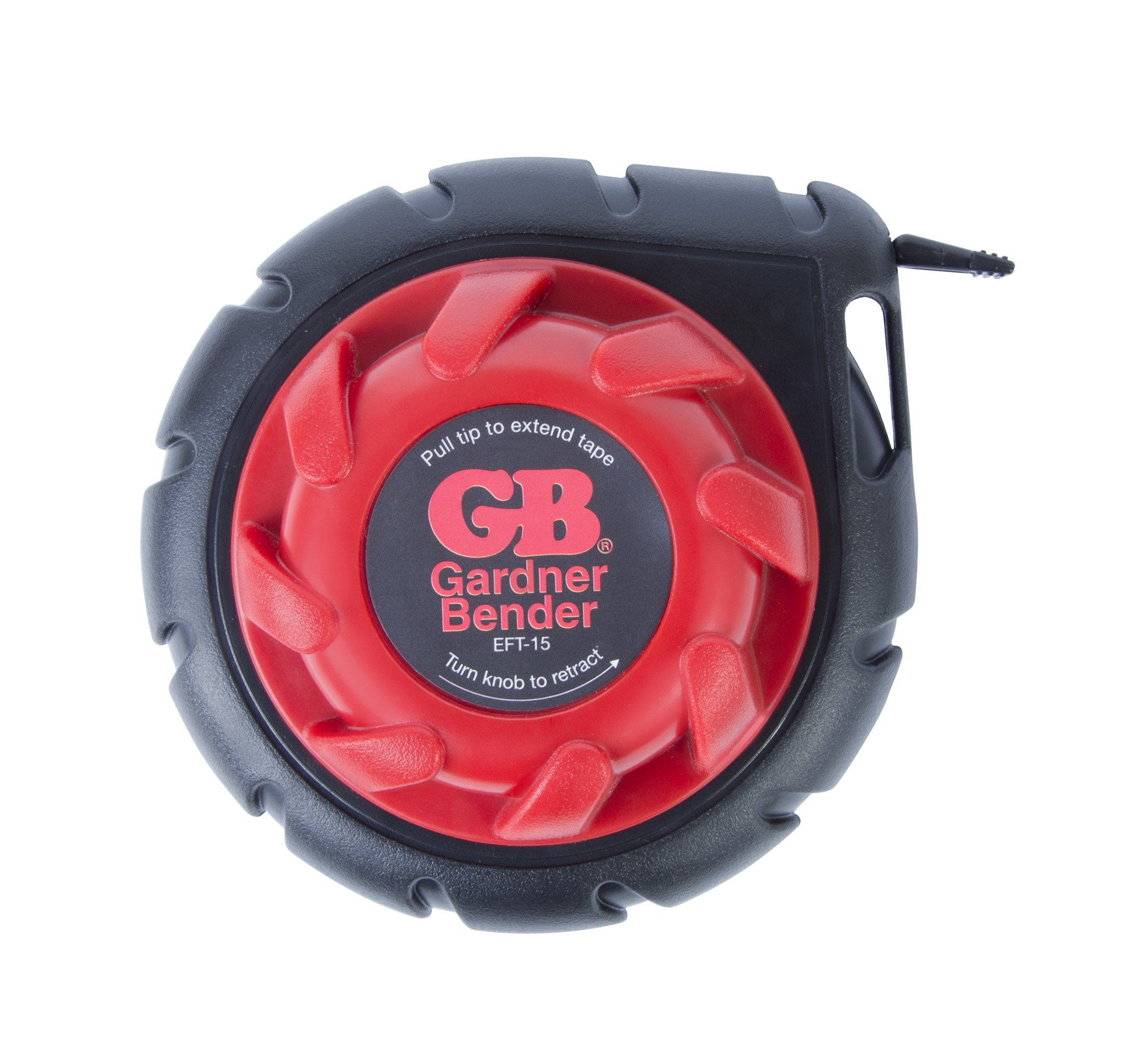 Gardner Bender EFT-15 Mini Cable Snake, 15 Ft Steel Fish Tape, Electrical Wire Fishing Tape, Red & Black