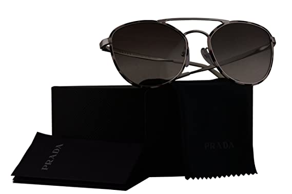 1e726b2827a Image Unavailable. Image not available for. Colour  Prada Authentic  Sunglasses PR63TS Spotted Brown w Grey Gradient Lens ...