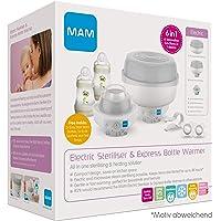MAM Sterilisator für Babyflaschen, sicherer Flaschensterilisator, Schnuller & Zubehör