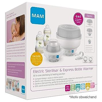 Mam Mikrowellen-Dampfsterilisator 160 ml Anti Colic Flasche