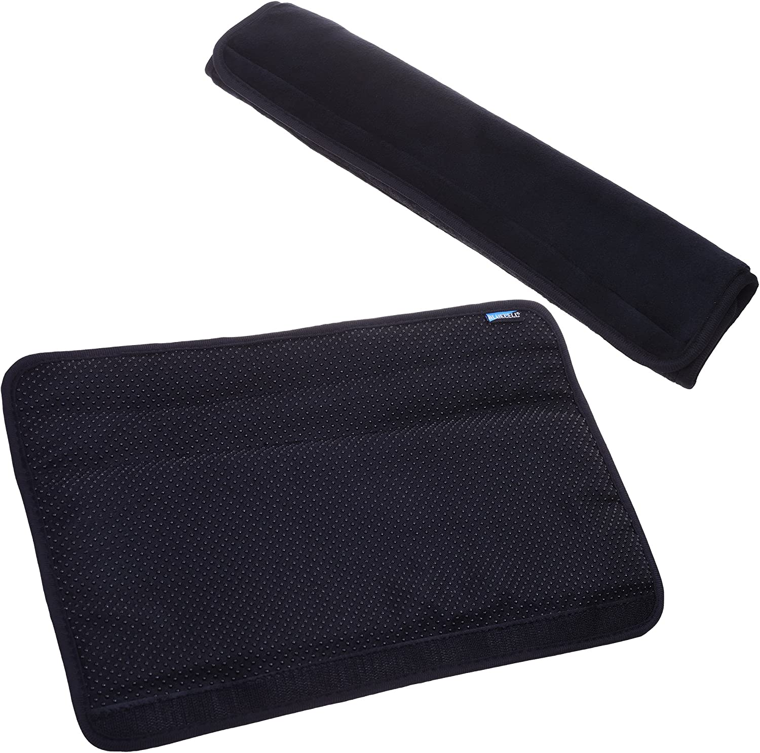 BCP 2pcs Black Color Adjustable Soft Comfortable Velvet Chair Armrest Covers Protectors for Home, Office