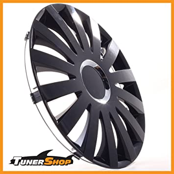 Drift Wheel Trims Hub Caps 17 Inches for Peugeot Wheel #2431152 Black Winter and Summer